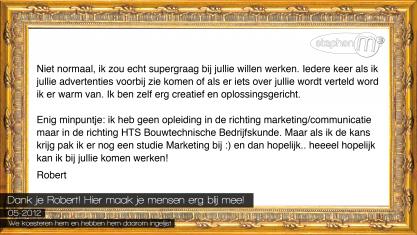 Stephan M - Creatieve Marketing en Reclame - Robert